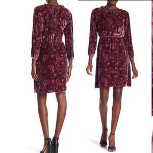 Rebecca Taylor size 12 jewel velvet dress